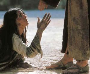 Jesus Reaching Down