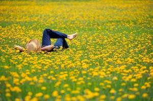 Lying in a field1